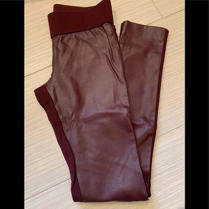 Club Monaco faux leather leggings
